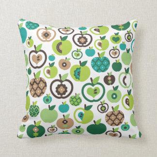 Cute apple retro pattern flower design throw pillows