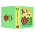 Cute Apple Teacher / Student School Binder binder