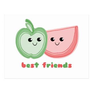 Cute Apple & Watermelon Best Friends Post Card