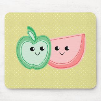 Cute Apple & Watermelon Friends Mouse Pad