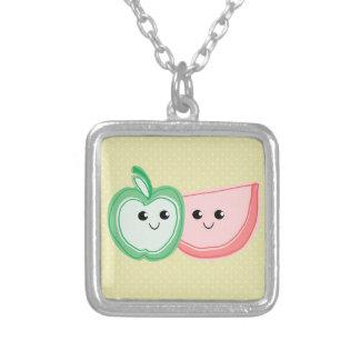 Cute Apple & Watermelon Friends Necklace