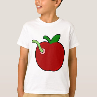 Cute Apple with Worm T-Shirt
