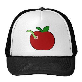 Cute Apple with Worm Trucker Hat