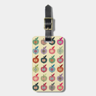 Cute Apples in Retro Style Tag For Bags