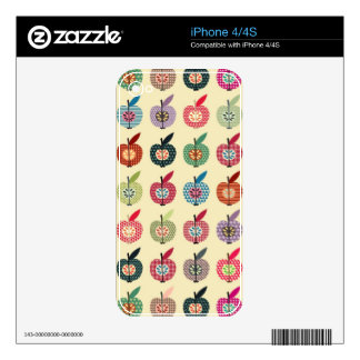 Cute Apples in Retro Style Skins For iPhone 4S