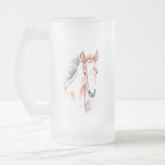 Cute Appy Foal Frosted Glass Beer Mug