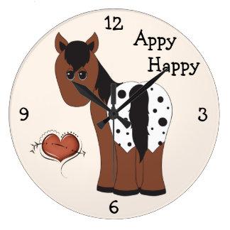 Cute Appy Happy Appaloosa Horse Wall Clock