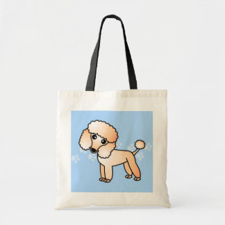 Cute Apricot  Poodle Cartoon Canvas Bags