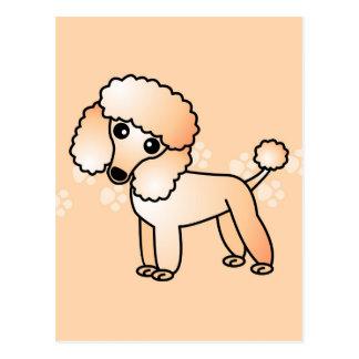 Cute Apricot  Poodle Cartoon Postcard