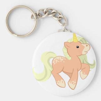 Cute Apricot Unicorn Keychain
