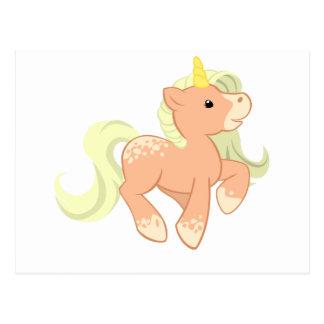 Cute Apricot Unicorn Postcard
