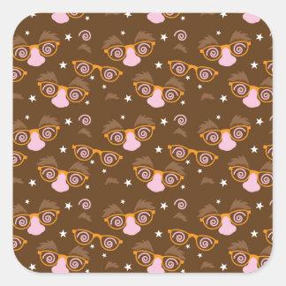 Cute April fools pattern design Square Sticker