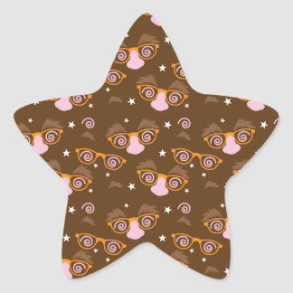 Cute April fools pattern design Star Sticker