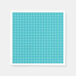 Cute Aqua and White Diamonds Pattern Disposable Napkin