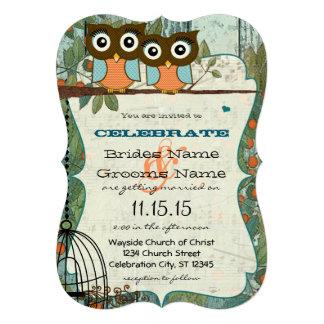 Cute Aqua Blue Owl Marry My Best Friend Wedding Invites