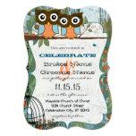 Cute Aqua Blue Owl Marry My Best Friend Wedding 5x7 Paper Invitation Card