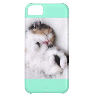 Cute Aqua Kitten Iphone 5c Case Case For iPhone 5C