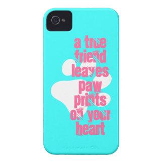 Cute aqua true friend dog quote iPhone 4 case