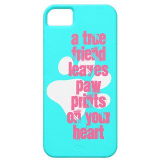 Cute aqua true friend dog quote iPhone SE/5/5s case