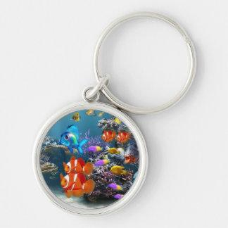 cute aquarium fish keyring keychain