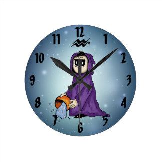 cute Aquarius Clock
