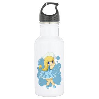 Cute Aquarius girl 18oz Water Bottle