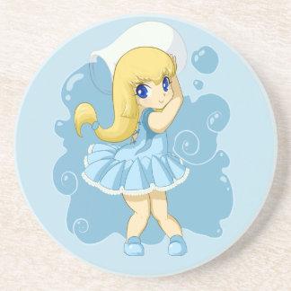 Cute Aquarius girl Drink Coaster