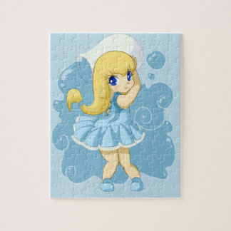 Cute Aquarius girl Jigsaw Puzzles