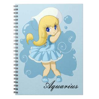 Cute Aquarius girl Note Books