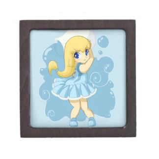 Cute Aquarius girl Premium Gift Box