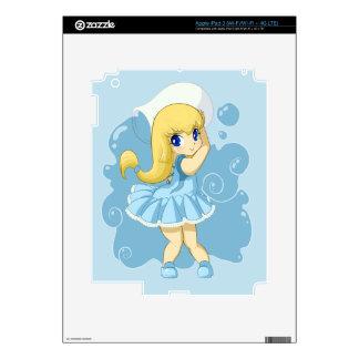 Cute Aquarius girl Skins For iPad 3