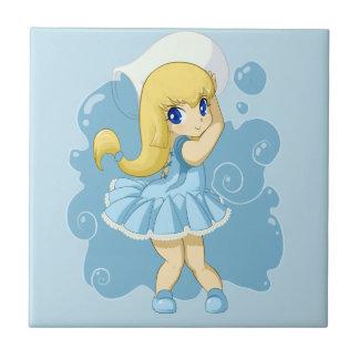 Cute Aquarius girl Tiles