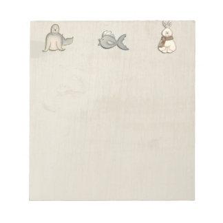 Cute arctic animals notepad