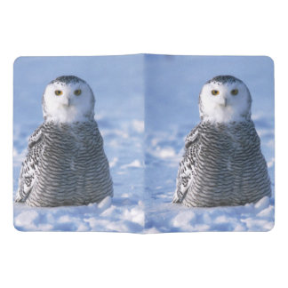 Cute Arctic Winter Snowy Owl Photo Designed Extra Large Moleskine Notebook