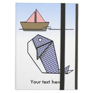Cute Argyle Origami Whale Case For iPad Air