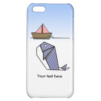 Cute Argyle Origami Whale Cover For iPhone 5C