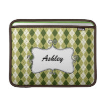 cute argyle personalized sleeve for MacBook air