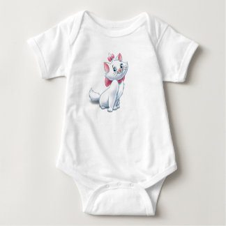 Cute Aristocats White and Pink Cat Disney Baby Bodysuit