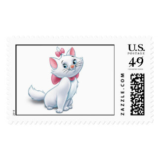 Cute Aristocats White and Pink Cat Disney Postage Stamp
