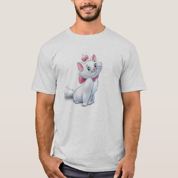 Disney Themed Cute Aristocats White and Pink Cat Disney T-Shirt
