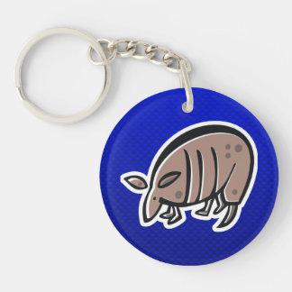 Cute Armadillo Blue Acrylic Keychain