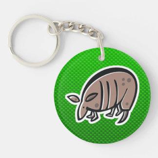 Cute Armadillo Green Key Chain