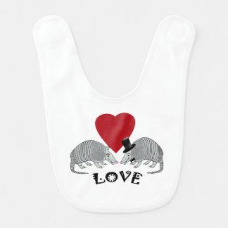 Cute Armadillo Love Bib