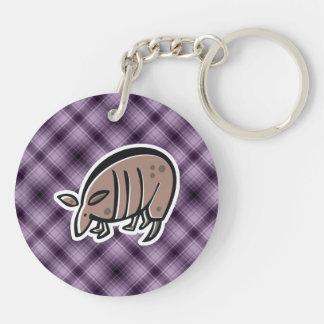 Cute Armadillo Purple Acrylic Key Chain