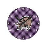 Cute Armadillo; Purple Wall Clock