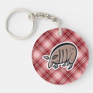 Cute Armadillo Red Plaid Key Chain