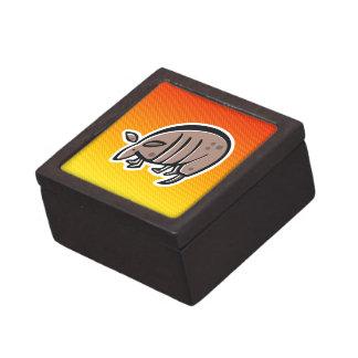 Cute Armadillo; Yellow Orange Premium Trinket Box