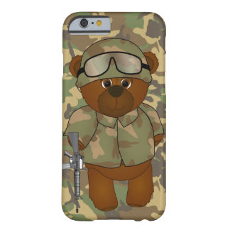 Cute Armed Forces Teddy Bear Military Mascot Barely There iPhone 6 Case