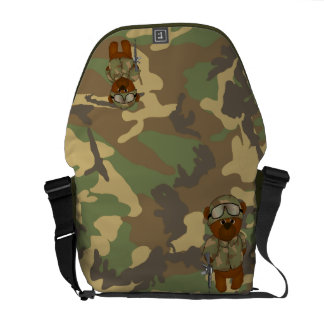 Cute Armed Forces Teddy Bear Military Mascot Courier Bag