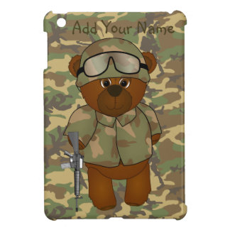 Cute Armed Forces Teddy Bear Military Mascot Cover For The iPad Mini